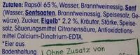 Remoulade mit 65% Rapsöl - Ingredients - de