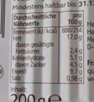 Heringsfilets in Pfeffercreme - Informations nutritionnelles - de