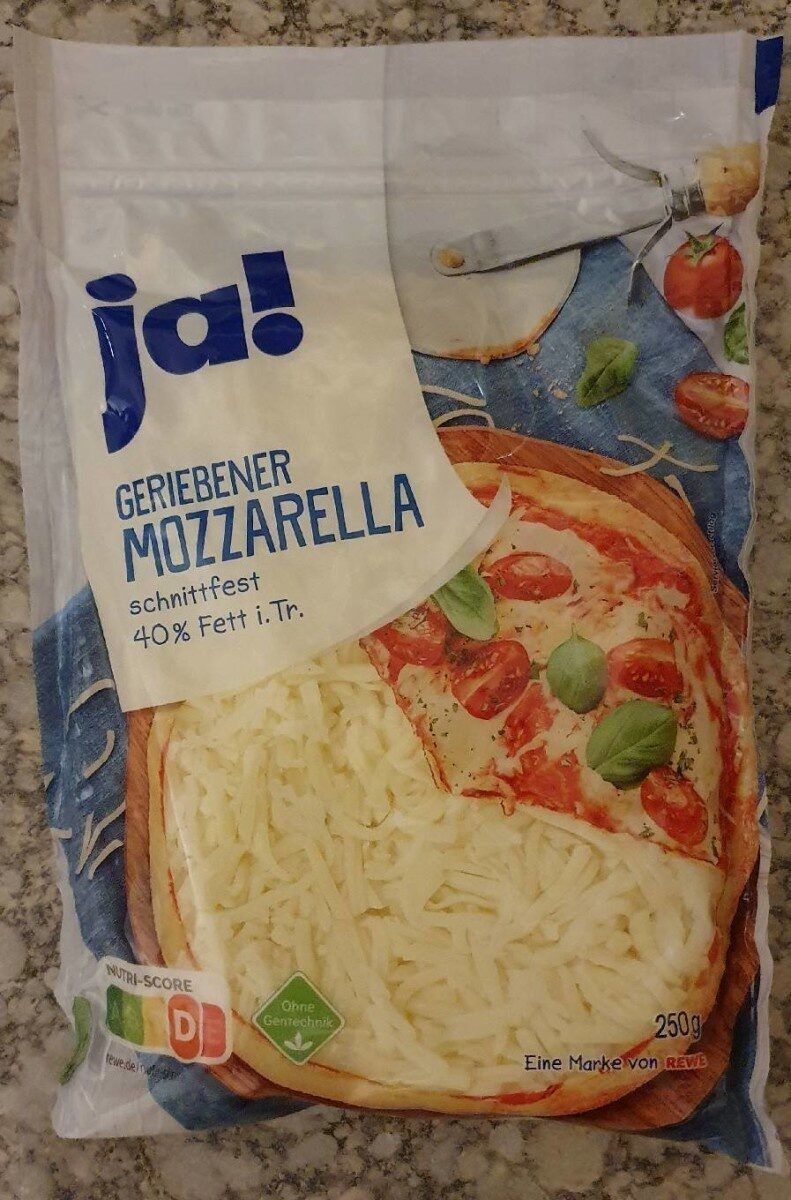 Geriebener Mozzarella - Product - de