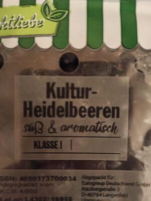 Kultur-Heidelbeeren - Ingrédients
