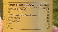 LaMate - Valori nutrizionali - de