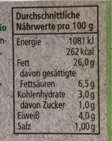 Frischcreme Schnittlauch - Valori nutrizionali - de