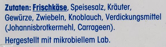 Kräuter Frischkäse - Ingrédients