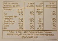 58% Kakao Edel Zartbitter - Nutrition facts - de