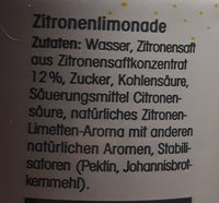 Limonata al limone - Ingredients