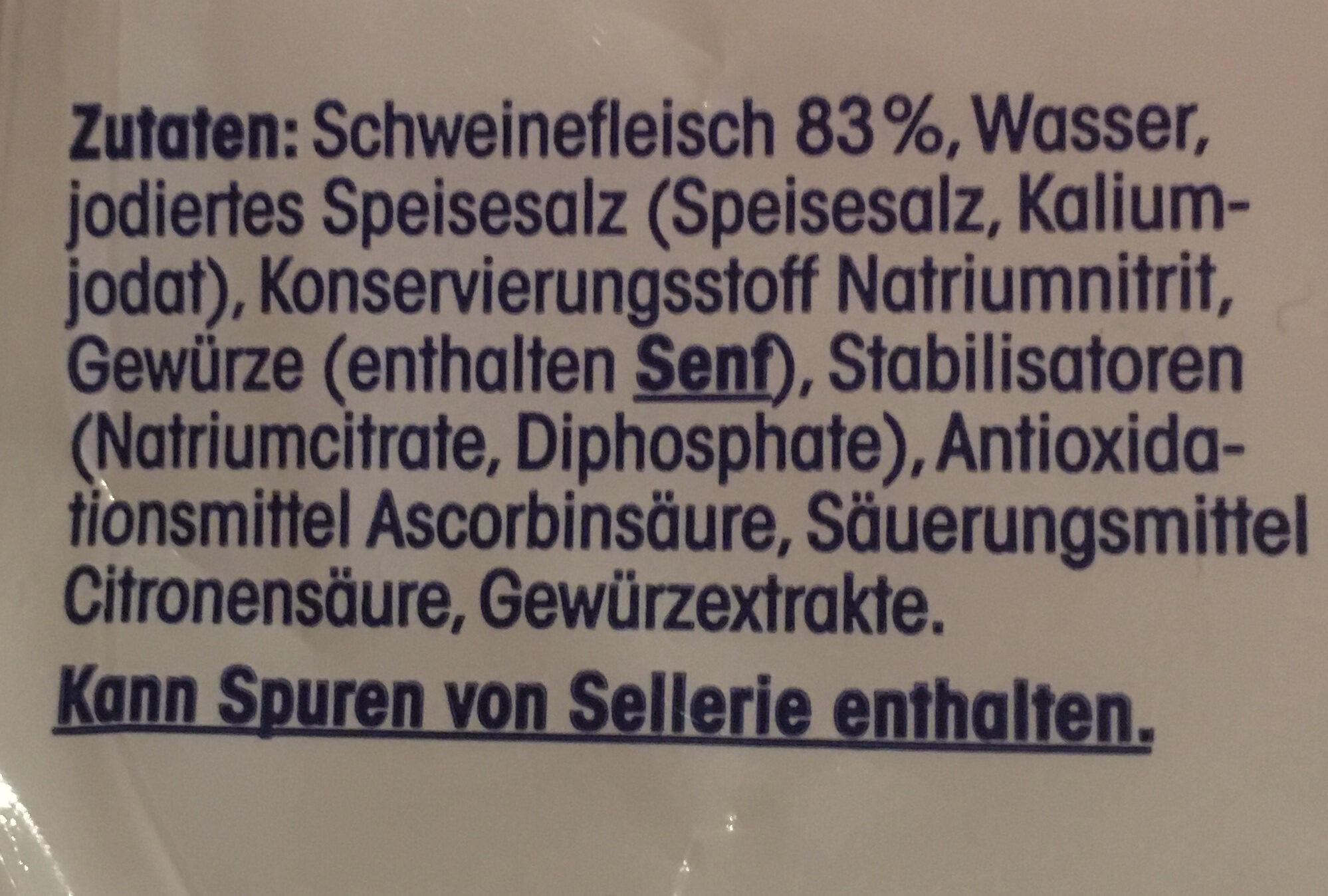 Bierwurst - Inhaltsstoffe - de