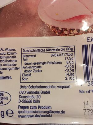 Bierwurst - Nährwertangaben - de