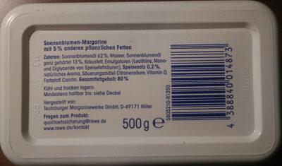 Sonnenblumen Margarine, Mit 5% Anderen Pflanzliche... - Ingredients - de
