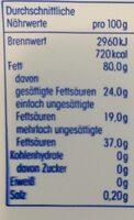 Sonnenblumen Margarine, Mit 5% Anderen Pflanzliche... - Nutrition facts - de