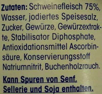 Bockwürstchen - Ingrédients - de