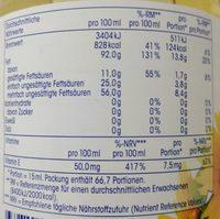 Reines Sonnenblumenöl - Nutrition facts - de