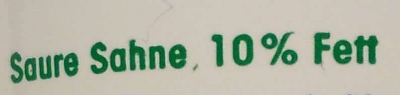 Saure Sahne 10% Fett - Ingredients