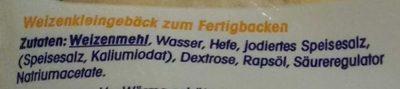 Baguettebrötchen - Ingrédients - de