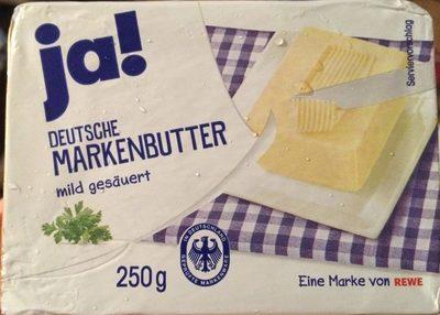 Deutsche Markenbutter mild gesäuert - Produkt