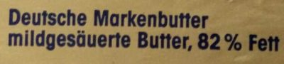 Deutsche Markenbutter mild gesäuert - Ingredients - de