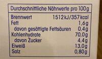 Paniermehl - Nutrition facts - de
