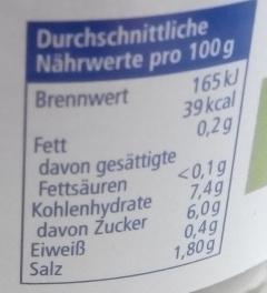 Cornichons süß-sauer - Nährwertangaben