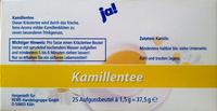 Kamillentee - Nutrition facts - de