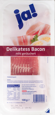 Delikatess Bacon - Product