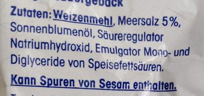 Feine Salzstangen mit Meersalz - Zutaten - de