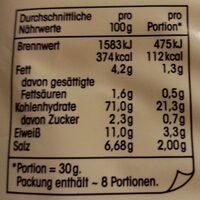 Feine Salzstangen mit Meersalz - Nährwertangaben - de
