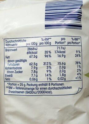 Ja! Kokosraspeln - Informations nutritionnelles - en