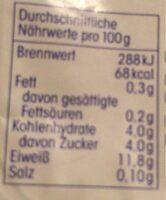 Speisequark - Nutrition facts - de