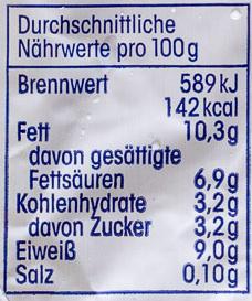 Speisequark 40 % Fett i. Tr. - Informations nutritionnelles - de