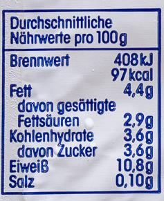 Speisequark 20 % Fett i. Tr. - Informations nutritionnelles - de