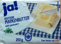 ja! Deutsche Markenbutter mild gesäuert - Product - de