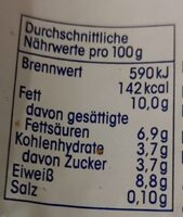 Quark - Nutrition facts - de
