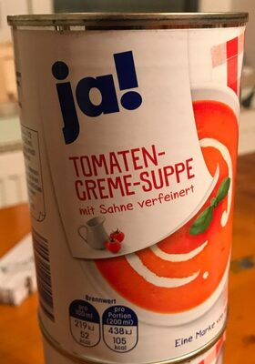 Tomaten-Creme-Suppe mit Sahne verfeinert - Produit - de