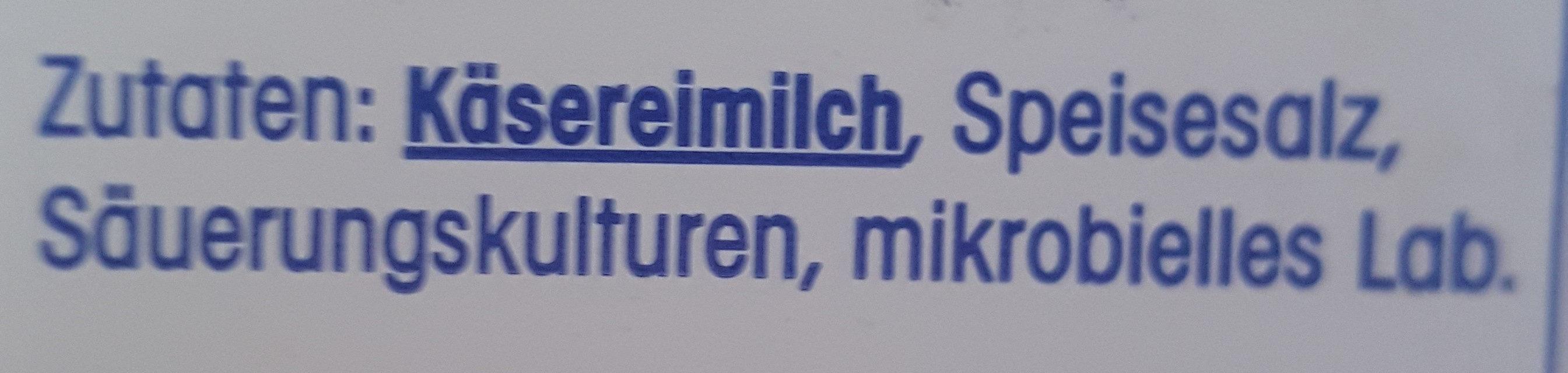 Gouda Jung 48% Fett i. Tr. - Ingredients - de