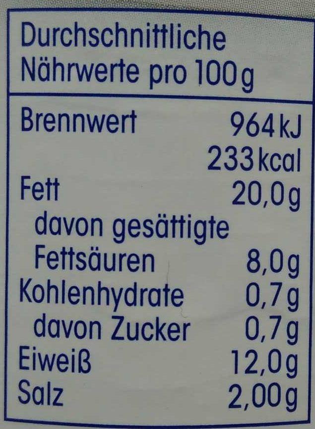 Bockwürstchen - Nährwertangaben - de