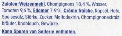 Baguette Champignon - Inhaltsstoffe