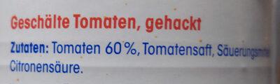 Fein gehackte Tomaten - Ingredients - de