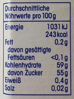 Erdbeere Konfitüre extra - Informations nutritionnelles