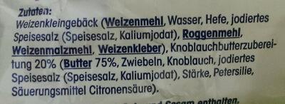 Knoblauchbutter Baguette - Ingredients - de