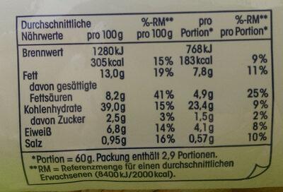 Knoblauchbutter Baguette - Nutrition facts - de