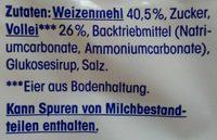 Löffelbiskuits - Inhaltsstoffe - de