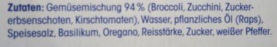 Italienische Gemüsemischung mild gewürzt - Inhaltsstoffe