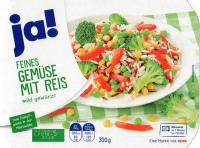 Feines Gemüse mit Reis mild gewürzt - Product - de