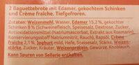 Baguette Schinken-Creme fraiche - Ingredients - de