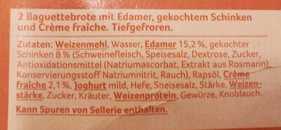 Baguette Schinken-Creme fraiche - Ingredients