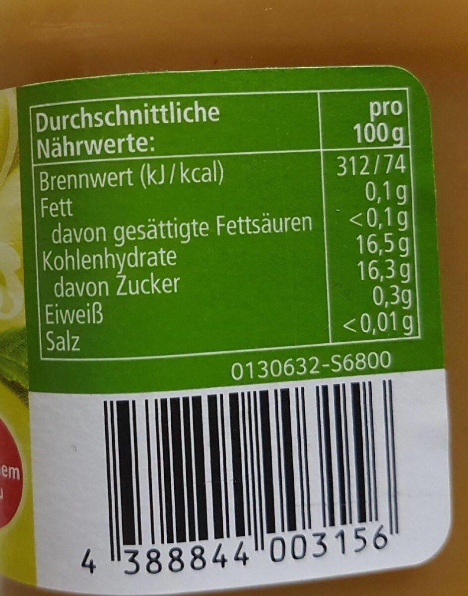 Apfelmus GOLDEN DELICIOUS - Nutrition facts - de