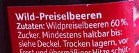 Wild Preiselbeeren - Inhaltsstoffe