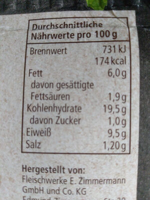 REWE Bii Maultaschen - Informations nutritionnelles - de