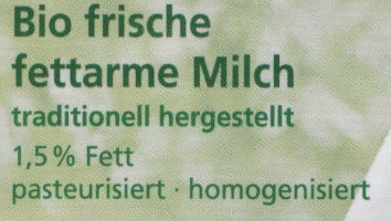 Frische fettarme Milch - Ingredienti - de