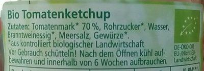 Tomatenketchup - Ingredients - de