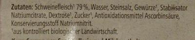 Bio Schinkenwurst - Ingredients